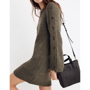 NWT Madewell Donegal Sweater Dress Sz L